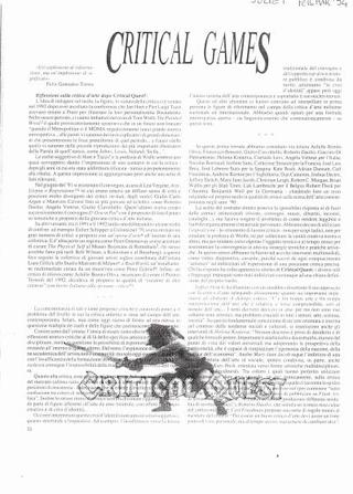 Critical Quest, rassegna stampa