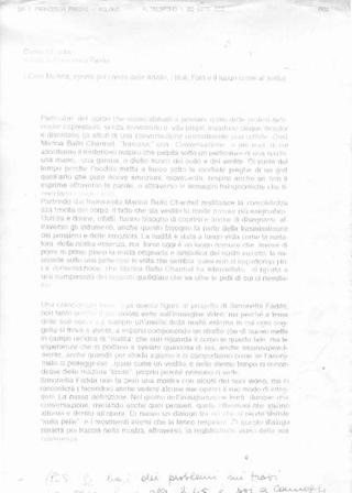 Il testo di Francesca Pasini