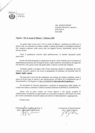 Pubblicazione del Comune di Milano.