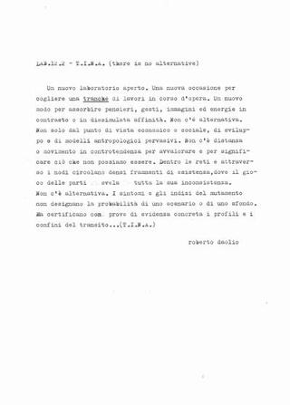 Il testo di Roberto Daolio