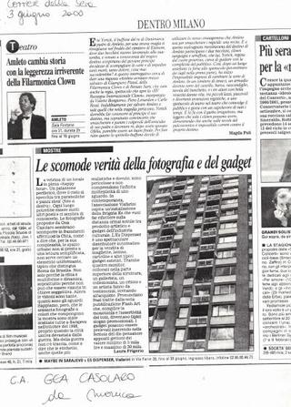 Recensione sul Corriere della Sera, 3 giugno 2000