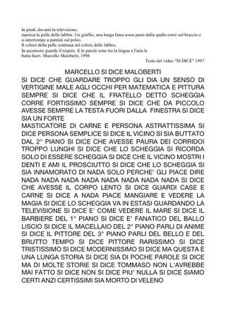 Il testo di Marcello Maloberti