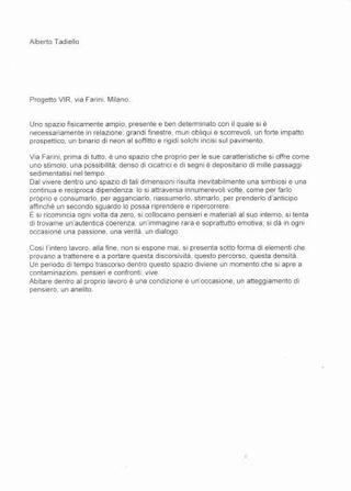 Il testo di Alberto Tadiello.