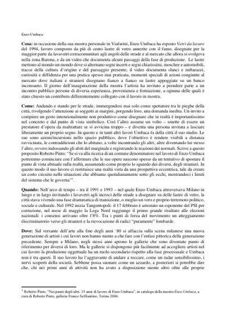 Testo di Emanuela De Cecco, in italiano e inglese