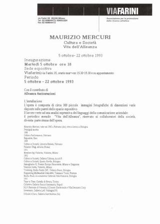 Maurizio Mercuri, il comunicato