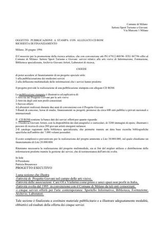Rapporti con il Comune di Milano.