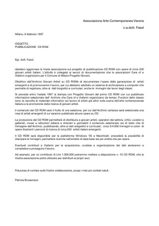 Proposta a Associazione Arte Contemporanea Verona.