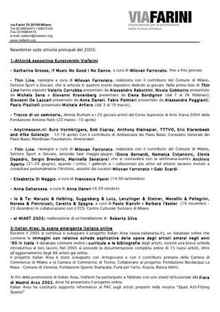Programma 2005.