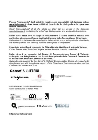 Il cartello di Italian Area al PAC