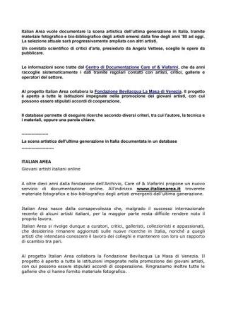 Italian Area e la Fondazione Bevilacqua La Masa