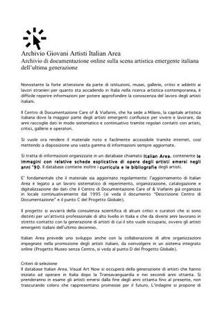 Italian Area e Museo senza Centro