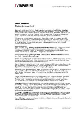 Ploting the Urban Body - comunicato stampa 18 maggio 2013