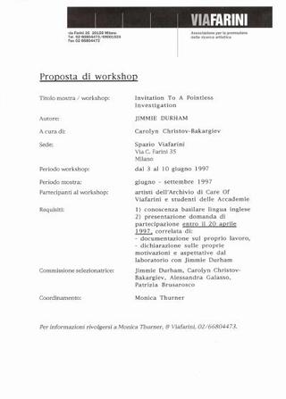 La progettazione del workshop in Viafarini