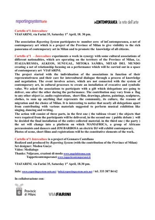 """Comunicato stampa """"inContemporanea la rete dell'arte"""", a cura di Gabi Scardi, promosso dalla Provincia di Milano, 2006"""