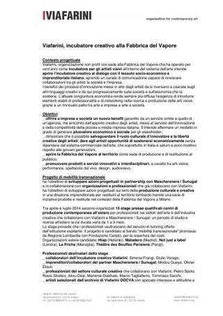 Mobilità transnazionale per lo sviluppo delle imprese culturali e creative, 2014