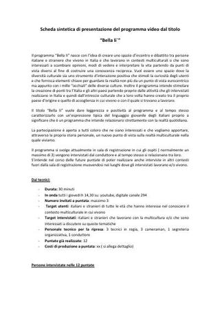 """Programma video """"Bellalì"""" di Modou Gueye, Canale 291"""
