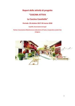 Report Cascina Attiva secondo anno per Fondazione Cariplo, 2018