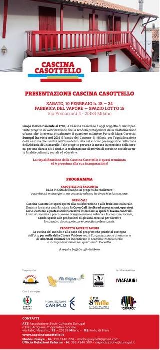 La presentazione di Cascina alla Fabbrica del Vapore, febbraio 2018