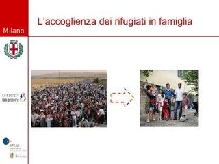 L'accoglienza dei rifugiati in famiglia, giornate di formazione organizzate dal Comune di Milano.