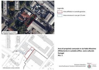 Area di proprietà comunale in via Fabio Massimo -  Affidamento in custodia all'Ass. socio culturale Sunugal