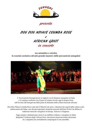 Sunugal presenta DouDou Ndiaye Rose e African Griot in concerto, 2013