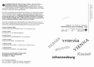 Seminario al PAC - Padiglione d'Arte Contemporanea, 1998