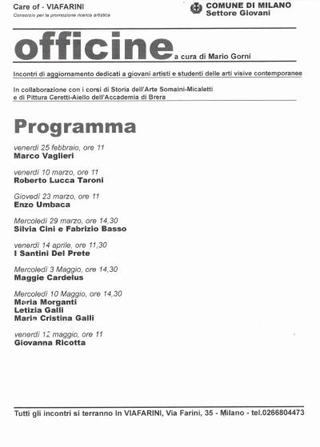 Officine a cura di Mario Gorni, 2000