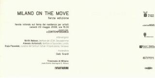 Milano On The Move per InContemporanea: la rete dell'arte, 2008