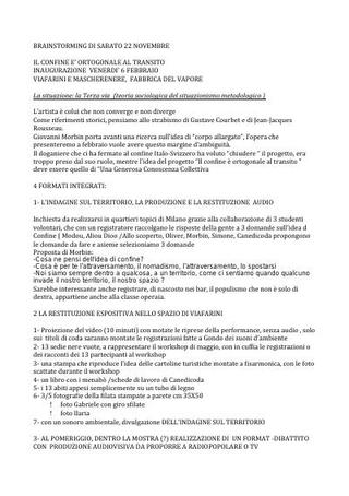 Report appuntamento per la formalizzazione del progetto partecipato di Giovanni Morbin