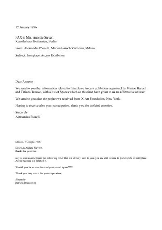 Fax alle organizzazioni