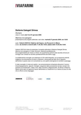 Il comunicato stampa, in italiano
