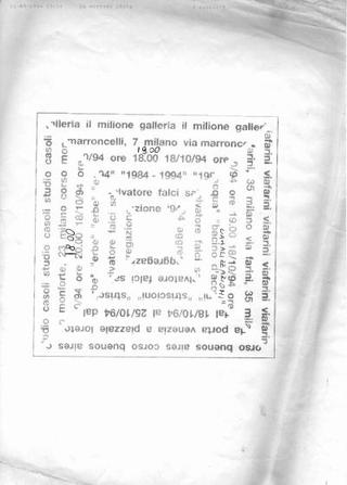 Progetto dell'invito di Massimo Costa