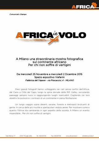 Comunicato stampa: Africa in volo