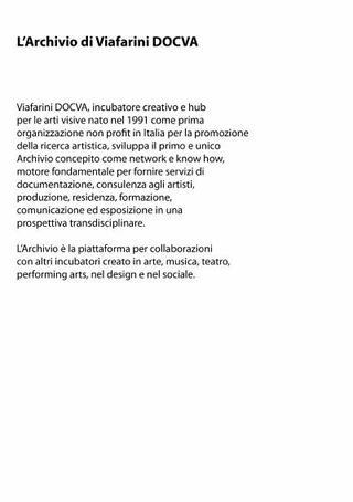 L'Archivio di Viafarini DOCVA