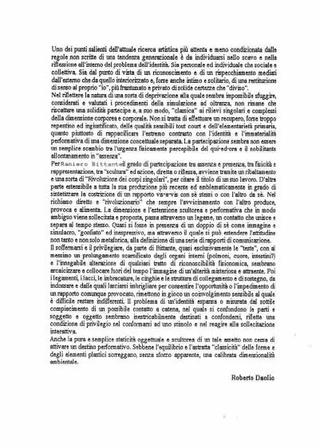 Il comunicato di Roberto Daolio