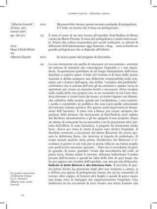 Didascalia-Caption. Interviste – Hans Ulrich Obrist & Alberto Garutti