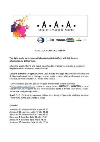 Programma A.A.A. Atelier Artistico Aperto al C.I.Q., 2019