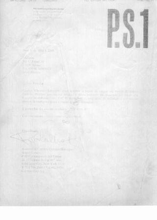 Pubblicazione su Jimmie Durham, PS1, 2001