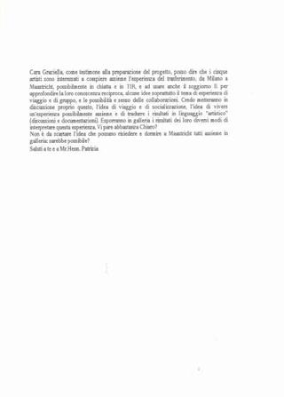 Progetti degli artisti italiani
