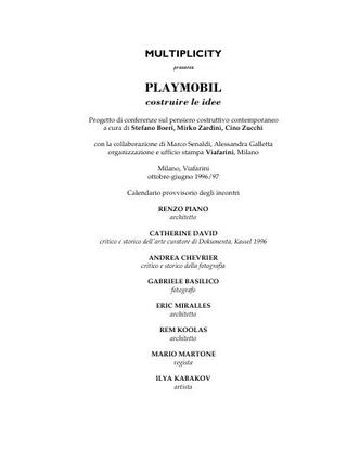 """Playmobil costruire le idee"""", progetto non realizzato, 1996-1997"""