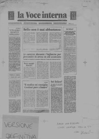 Versione definitiva che riproduceva il noto giornale italiano  La Repubblica con gli articoli tradotti dal tedesco