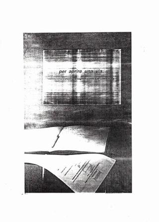"""Intervento di Emilio Fantin, artista già allora interattivo, che predispose una raccolta firme per """"trovare la via"""""""