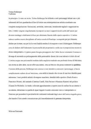 Testo di Milovan Farronato