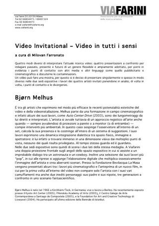 Comunicato stampa Video Invitational - Bjorn Melhus