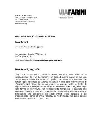 Comunicato stampa - Giona Bernardi