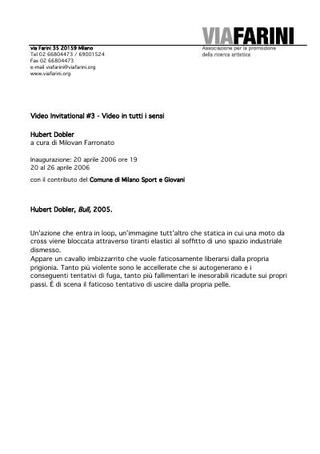 Comunicato stampa - Hubert Dobler