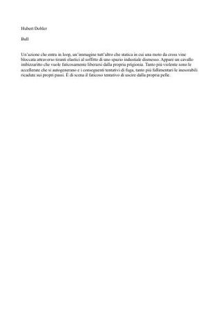 Testo Hubert Dobler