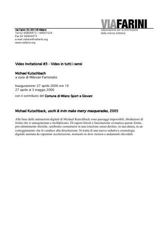 Comunicato stampa - Michael Kutschback