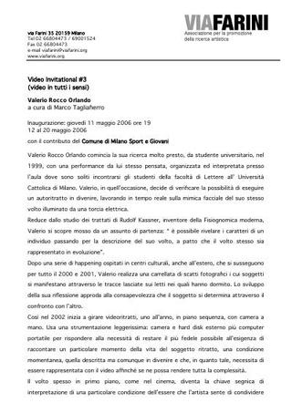 Comunicato stampa - Valerio Rocco Orlando