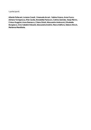 Lista dei partecipanti.